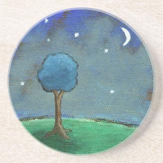 Noche estrellada, el árbol abstracto del paisaje p posavasos manualidades
