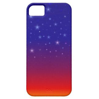 Noche estrellada en la puesta del sol II iPhone 5 Protectores