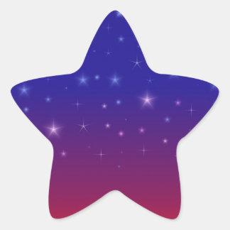Noche estrellada en la puesta del sol II Pegatina Forma De Estrella