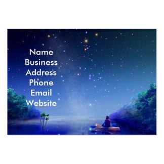 Noche estrellada en la tarjeta de visita del río