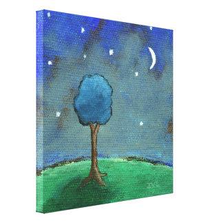 Noche estrellada estrellada, arte caprichoso del impresión en lona