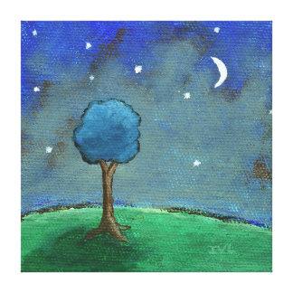 Noche estrellada estrellada, arte caprichoso del p impresión en lona