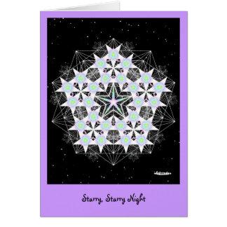 Noche estrellada, estrellada tarjeta de felicitación