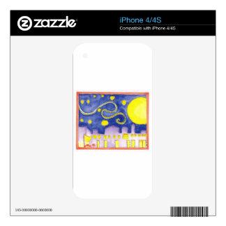 Noche estrellada falsa y café de Van Gogh Calcomanías Para iPhone 4