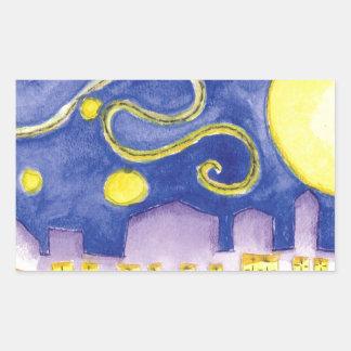 Noche estrellada falsa y café de Van Gogh Rectangular Altavoz