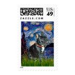 Noche estrellada francesa del dogo (negro 11) - franqueo