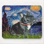 Noche estrellada francesa del dogo (negro 11) - (v tapetes de raton
