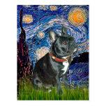 Noche estrellada francesa del dogo (negro 11) - (v postales