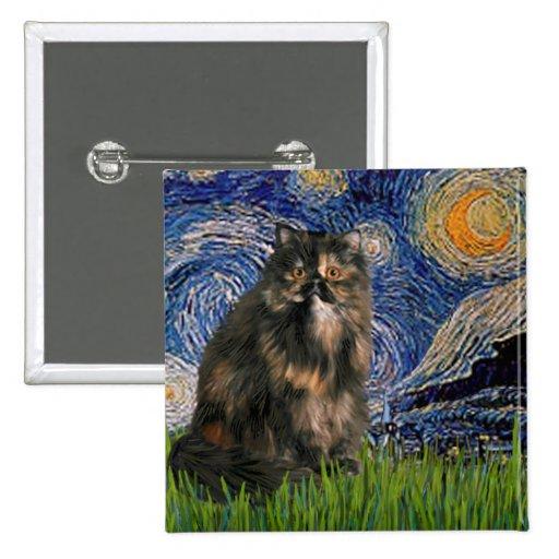 Noche estrellada - gato de calicó persa pins