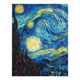Noche estrellada Inivtations de Van Gogh Invitación Personalizada