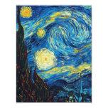 Noche estrellada Inivtations de Van Gogh Invitación 10,8 X 13,9 Cm