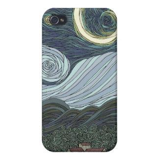 Noche estrellada iPhone 4/4S carcasas