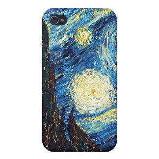 Noche estrellada iPhone 4 cárcasas