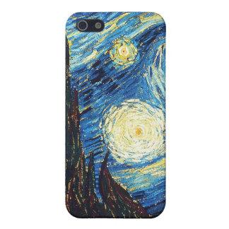Noche estrellada iPhone 5 carcasa