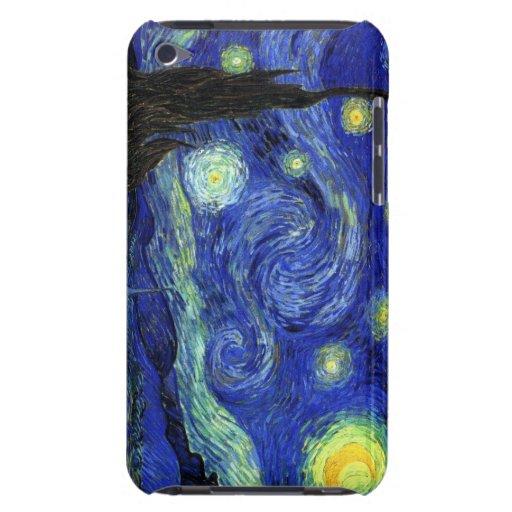 Noche estrellada iPod touch Case-Mate protectores