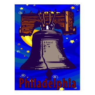 Noche estrellada Liberty Bell Tarjetas Postales