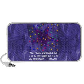 Noche estrellada notebook altavoces