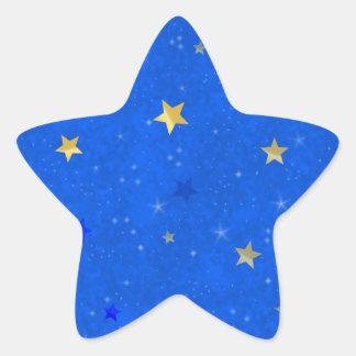 Noche estrellada calcomanía forma de estrellae