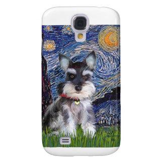 Noche estrellada - perrito 10 del Schnauzer