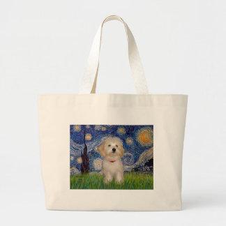 Noche estrellada - perrito de Havanese Bolsas