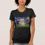 Noche estrellada - perrito de Havanese Camiseta
