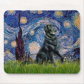 Noche estrellada - perro perdiguero revestido plan tapete de ratones