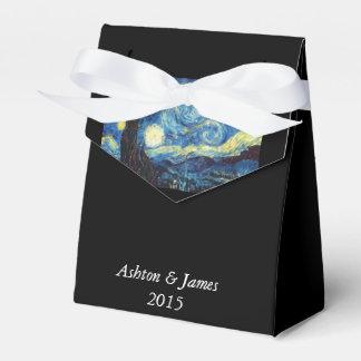 Noche estrellada personalizada casando la caja del caja para regalos