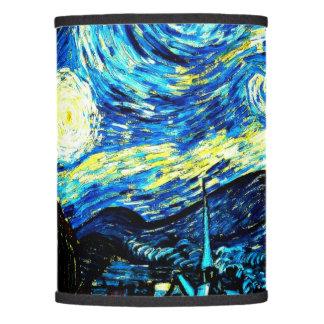 Noche estrellada, pintura de Van Gogh Pantalla De Lámpara