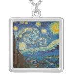 Noche estrellada por el collar de Vincent van Gogh