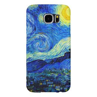 Noche estrellada por la bella arte de Van Gogh Fundas Samsung Galaxy S6