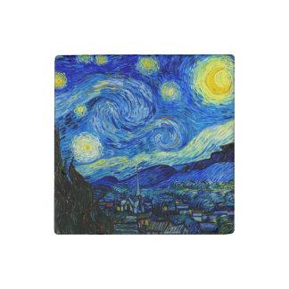 Noche estrellada por la bella arte de Van Gogh Imán De Piedra