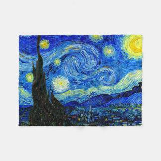 Noche estrellada por la bella arte de Van Gogh Manta De Forro Polar