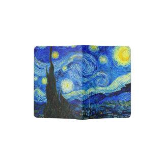 Noche estrellada por la bella arte de Van Gogh Porta Pasaporte