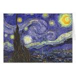 Noche estrellada por la tarjeta de nota de Van Gog
