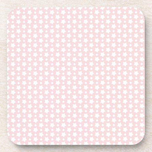 Noche estrellada rosada posavasos