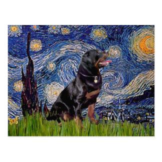 Noche estrellada - Rottweiler (#6) Tarjetas Postales