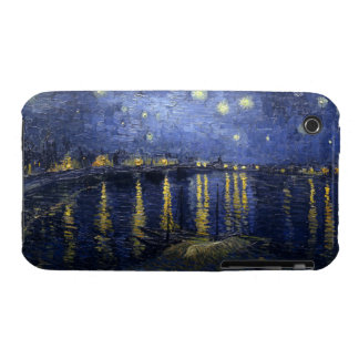 Noche estrellada sobre de Rhone el iPhone 3 apenas Case-Mate iPhone 3 Cárcasa