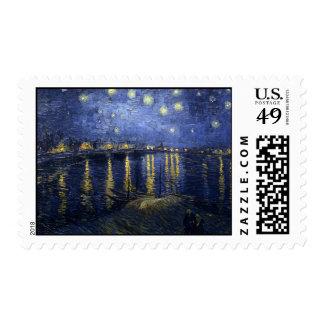 Noche estrellada sobre el franqueo de Rhone
