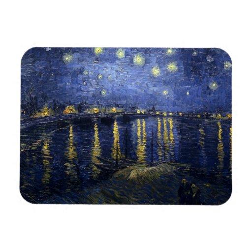 Noche estrellada sobre el imán del premio de Rhone