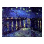 noche estrellada sobre el rhone 1890 postal