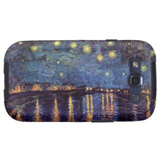 Noche estrellada sobre el Rhone, arte de Van Gogh Galaxy S3 Protector