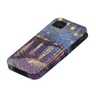 Noche estrellada sobre el Rhone, arte de Van Gogh iPhone 4 Carcasas