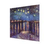 Noche estrellada sobre el Rhone, arte de Van Gogh Impresion De Lienzo