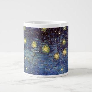 Noche estrellada sobre el Rhone, arte de Van Gogh Taza Grande