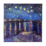 Noche estrellada sobre el Rhone Azulejos Cerámicos