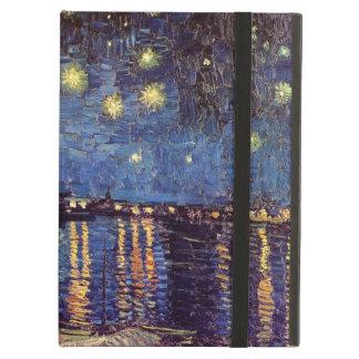 Noche estrellada sobre el Rhone, bella arte de Van
