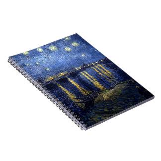 Noche estrellada sobre el Rhone Cuadernos