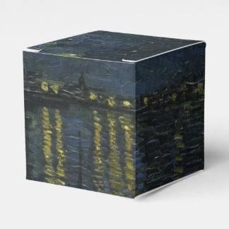 Noche estrellada sobre el Rhone de Van Gogh Caja Para Regalo De Boda