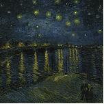 Noche estrellada sobre el Rhone de Van Gogh Escultura Fotográfica