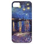Noche estrellada sobre el Rhone de Van Gogh iPhone 5 Carcasa